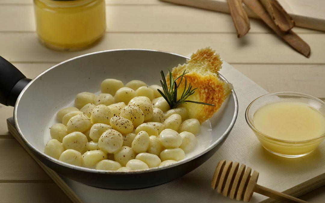 Gnocchis au beurre, à la sauge et au Miel de Tilleul