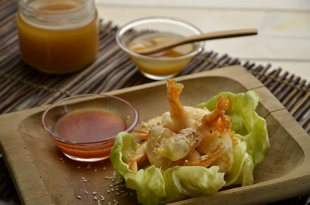 crevettes aromatis es au miel d 39 eucalyptus et aux graines de s same mielizia. Black Bedroom Furniture Sets. Home Design Ideas
