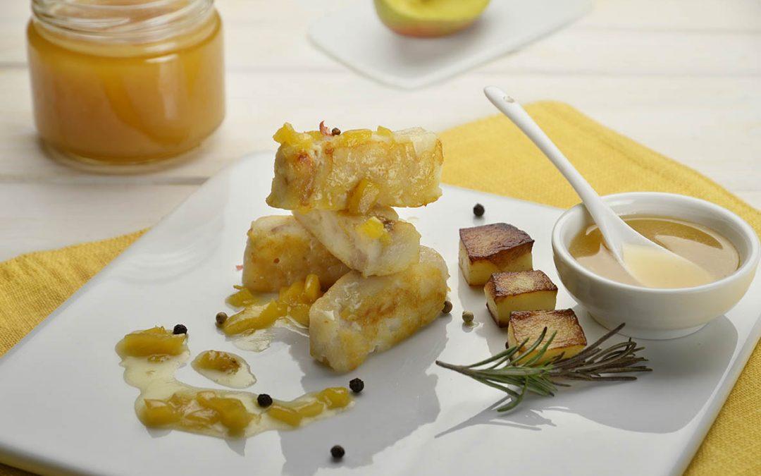 Cod with coriander honey and mango