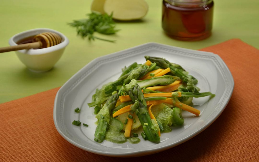 Salade de printemps au Miel de Châtaignier