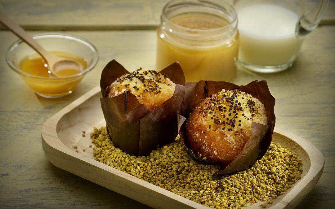 Tortini integrali al miele millefiori e polline