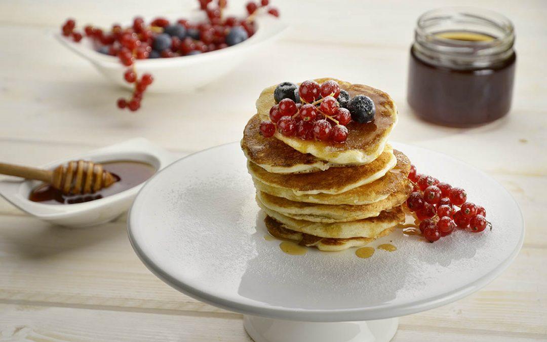 Pancakes with honeydew honey