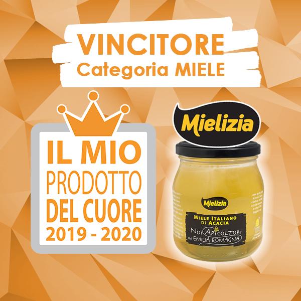 """Mielizia si aggiudica il premio """"Il Mio Prodotto del Cuore 2019-2020"""""""