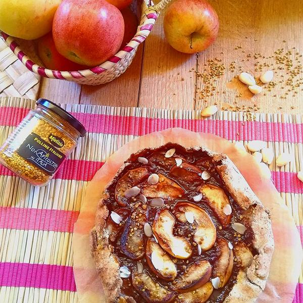 Ricetta facile galette dolce francese con mele, marmellata biologica e polline Mielizia