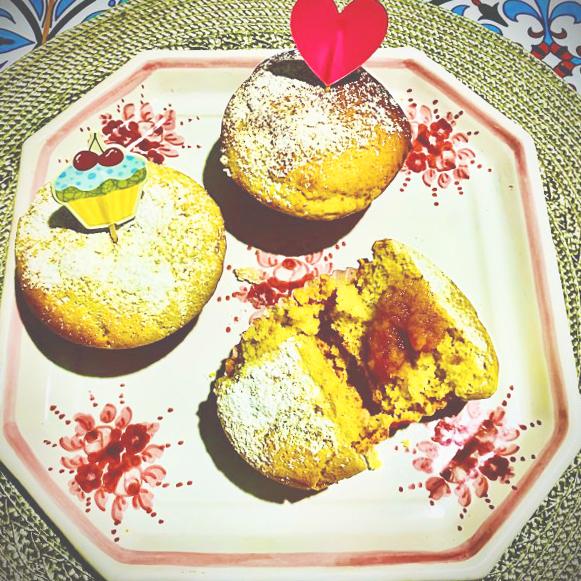 Muffin con composta di agrumi