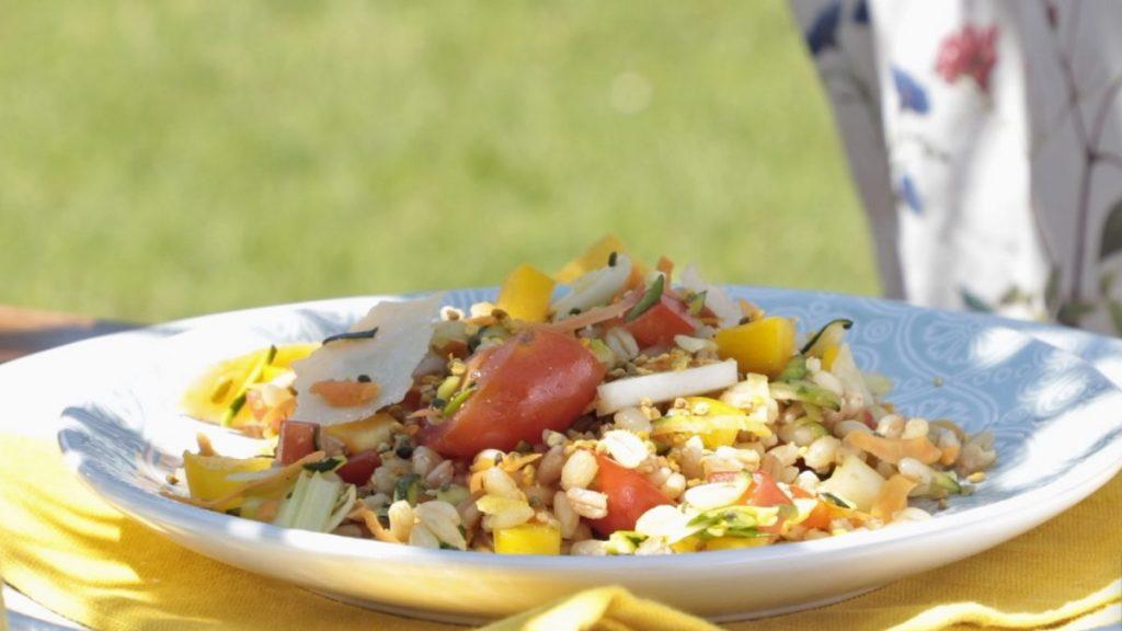 Ricetta - Insalata mista cereali verdure polline