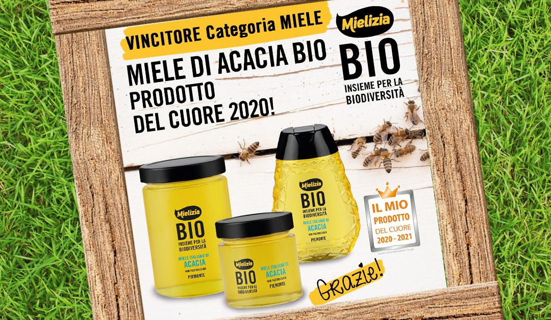 """Mielizia vince il concorso """"Il Mio Prodotto Del Cuore 2020-2021"""" nella categoria Miele"""