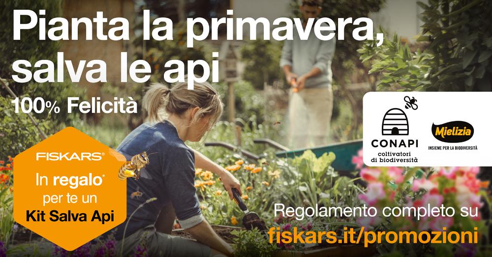 """Mielizia e Fiskars insieme per la biodiversità con il """"Kit Salva Api"""""""