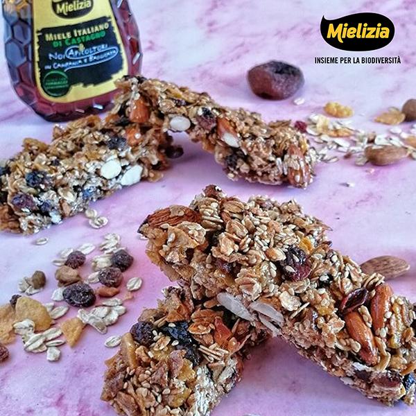 ricetta facile da fare in casa - barrette energetiche cereali muesli frutta secca miele