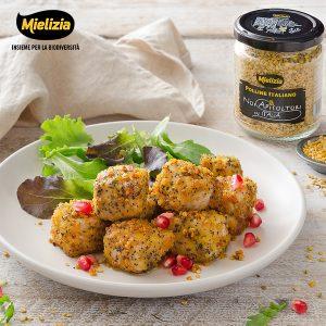 ricetta mielizia - bocconcini maiale crosta polline semi papavero