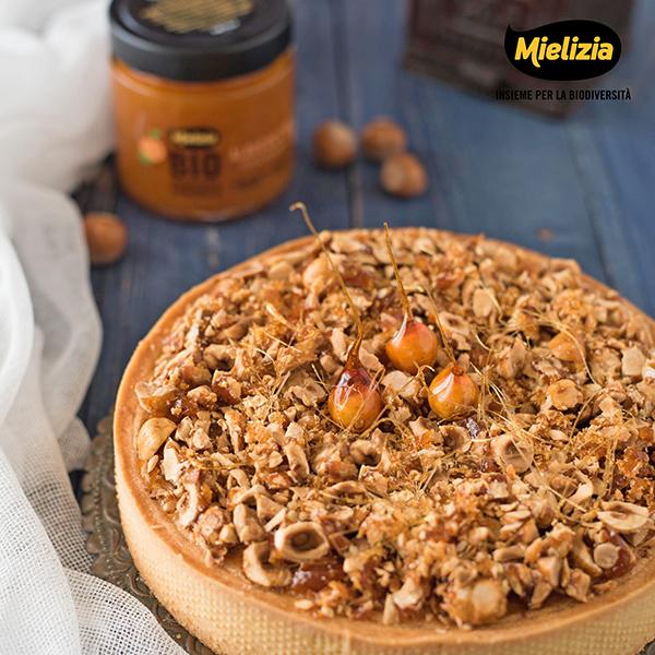 ricetta mielizia - torta crema frangipane nocciole composta albicocche