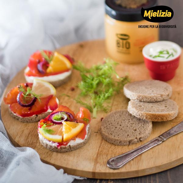 ricetta mielizia - gravlax salmone svedese marinato agrumi miele clementino