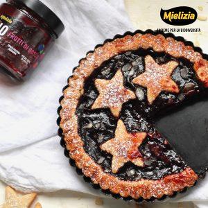ricetta mielizia - linzer torte crostata natalizia composta frutti di bosco