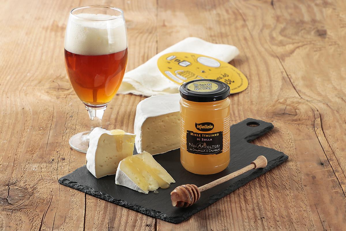 mielizia blog - abbinamento Miele sulla formaggio crosta fiorita Camembert birra saison degustazione aperitivo