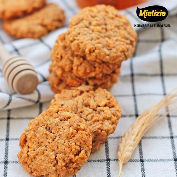 ricetta mielizia - biscotti leggeri miele millefiori cereali fiocchi avena