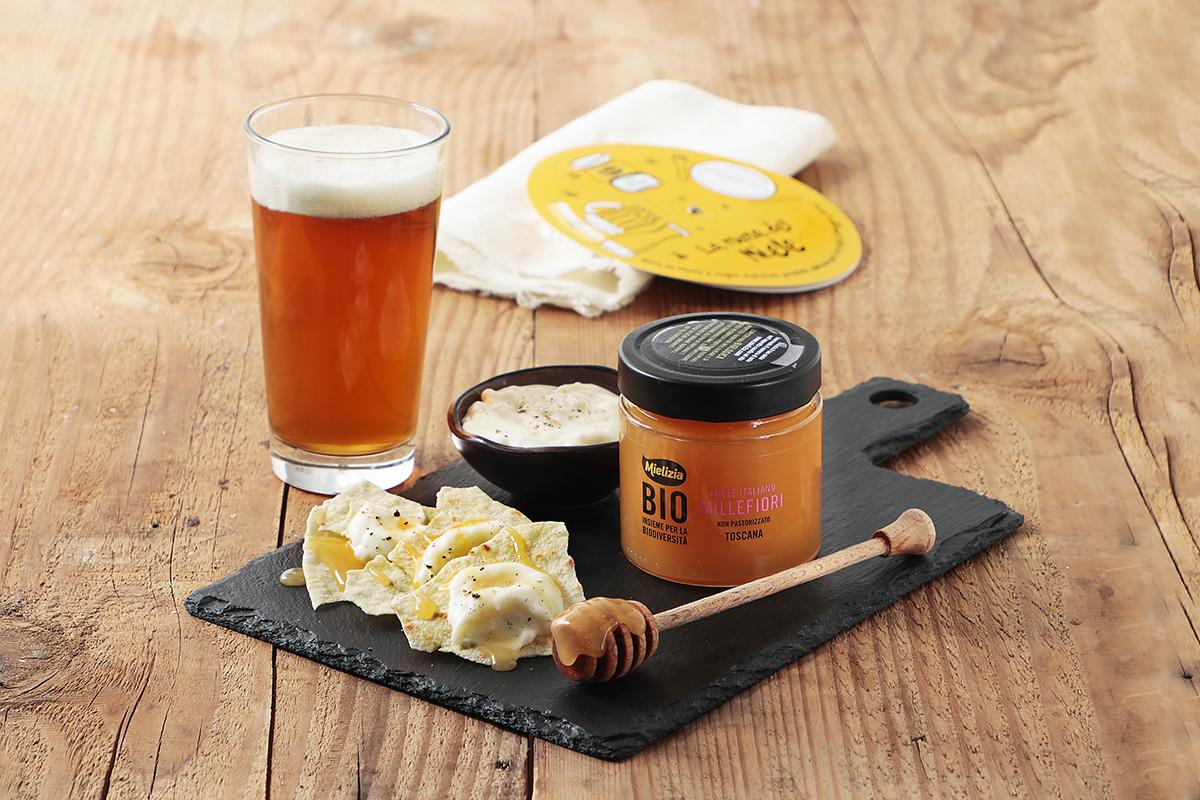 Come abbinare birra miele MILLEFIORI - taleggio squaquerone ravaggiolo birra pilsner o tripel Malastrana
