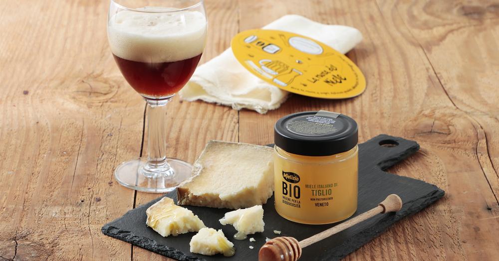 Scegli l'abbinamento perfetto per miele di bosco, tiglio e millefiori con birre e formaggi